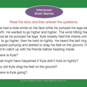 Speech Corner Photo Cards For Inferences--Short Stories-3103