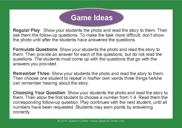 Speech Corner Photo Cards For Inferences--Short Stories-3102