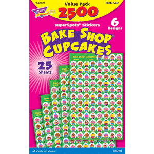 Bake Shop Cup Cakes - Mini Stickers For Dot Books (2,500)-0