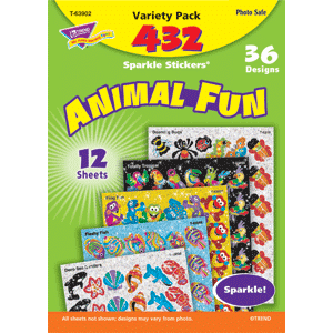 Animal Fun - Sparkle Stickers (432 stickers, 36 designs)-0